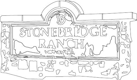 Stonebridge Ranch black outlined illustration shaddock development company